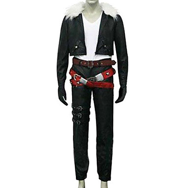 Inspirado por Final Fantasy Squall Leonhart Vídeo Juego Disfraces de cosplay Trajes Cosplay Un Color Manga Larga Chaqueta Pantalones Cinturón Disfraces