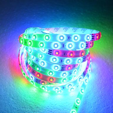 5M LED Strip Light In 54 Lampe Beads med fjernbetjening og adapter