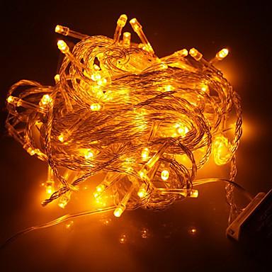 100 de condus 10m de vacanta de decorare lumina galbenă a condus lumina șir