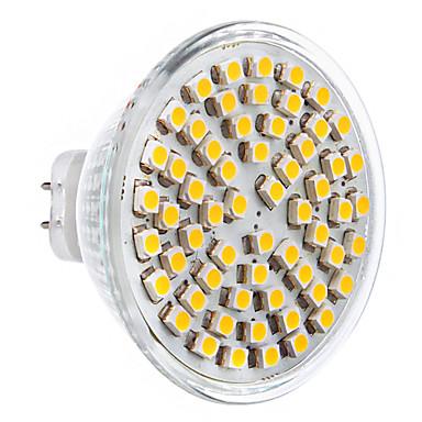 5W GU5.3(MR16) LED-spotlys 60 SMD 2835 360 lm Varm hvid Vekselstrøm 12 V