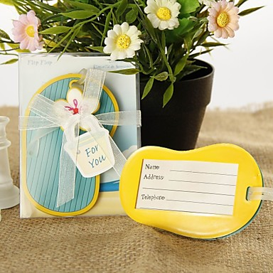 Wedding / Bridal Shower / Baby Shower Rubber Luggage Tags Beach Theme