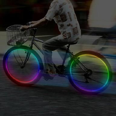 hjul lys Ventilhætters blinklys LED Cykling Cellebatterier Lumen Batteri Cykling