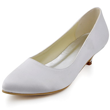 Women's ShoesClosed Toe Kitten Heel Satin Pumps Wedding Shoes More Colors available