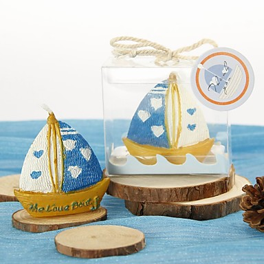 Beach Theme Candle Favors Candles Gift Box Spring Summer