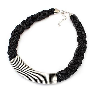 Damen Stränge Halskette  -  Weiß, Schwarz, Grün Modische Halsketten Für Party, Alltag