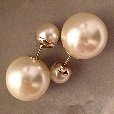 Pentru femei Cercei Stud Perle Imitație de Perle Gold Pearl Rotund Bijuterii Nuntă Petrecere Zilnic Casual