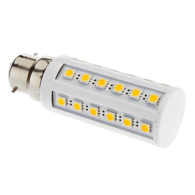 B22 Becuri LED Corn T 36 led-uri SMD 5050 Alb Cald 3000