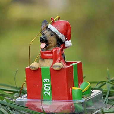Slatka njemački ovčar Dekorativni Ornament božićni poklon za ljubitelje kućnih ljubimaca