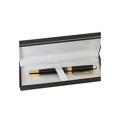 Personalizované Black and Gold Metal Black Ink Pen Gel