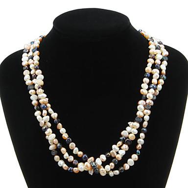 Kadın's Zincir Kolyeler / Kolye - İnci Moda Kolyeler Mücevher Uyumluluk Parti, Özel Anlar, Doğumgünü / Günlük