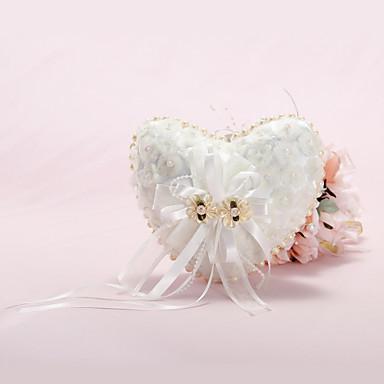 Piatră Semiprețioasă Funde Perlă Artificială Satin Dantelă Raion Pernuță inel Temă Grădină Temă Florală Primăvară Vară Toamnă