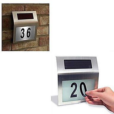 În aer liber 2-LED Solar Powered oțel inoxidabil White Light pentru Doorplate