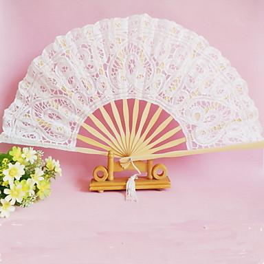 Blonde Fans og parasoller Piece / Set Håndvifter Klassisk Tema Hvid 16 1/2