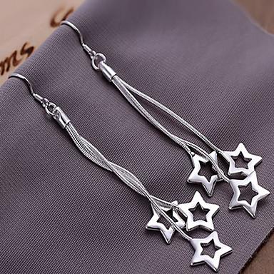 Pentru femei 1 Cercei Picătură Aliaj Αστέρι Bijuterii Argintiu Costum de bijuterii