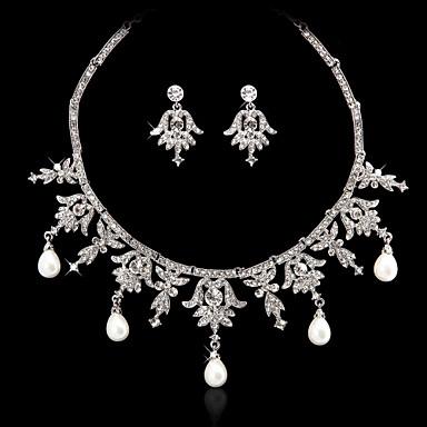 Dámské Imitace perly imitace drahokamu Svatební Párty Zvláštní příležitosti Narozeniny Zásnuby Slitina Küpeler Náhrdelníky