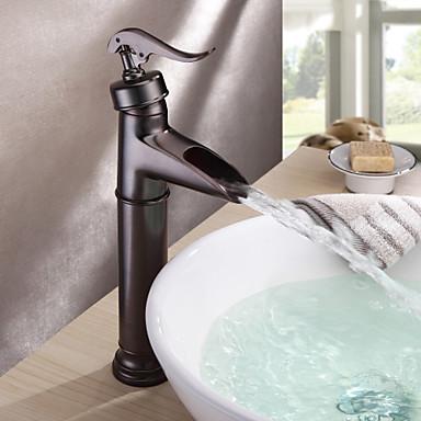 Antik Stil Petrol Bronz Finish Centerset Pirinç Banyo Lavabo Bataryası ovuşturdu