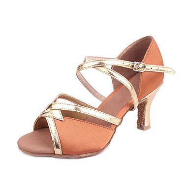 Prilagođeno Ženska Satin & Pu plesne cipele za latinski / ballroom Sandale