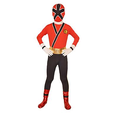 Zentai Anzüge Superheld Soldat/Krieger Zentai Kostüme Cosplay Kostüme Rot Solide Gymnastikanzug/Einteiler Zentai Kostüme Elasthan Lycra