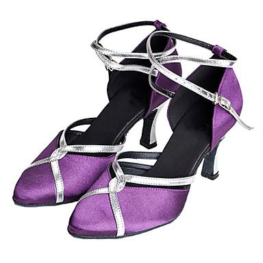 Damen Schuhe für modern Dance / Ballsaal Satin Absätze Maßgefertigter Absatz Keine Maßfertigung möglich Tanzschuhe Lila