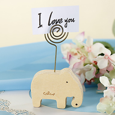 Wood Place Card Holders Standing Style Gift Box