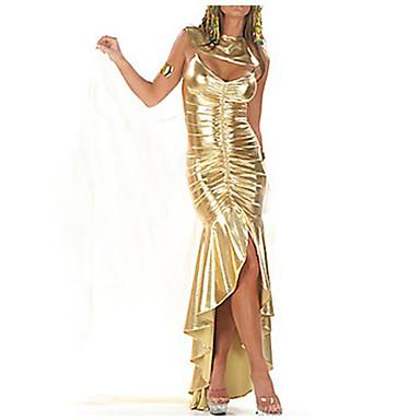 sexiga kvinnor egyptiska drottningen gyllene halloween kostym (3 st)
