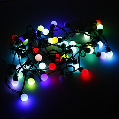 Leuchtgirlanden 50 LEDs RGB Farbwechsel 220V