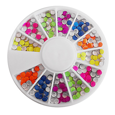 Mixt Candy Color Fluorescent Round Nail Art Decoratiuni