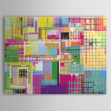 pânză întinsă artă pop artă abstractă multicolor gata să stea