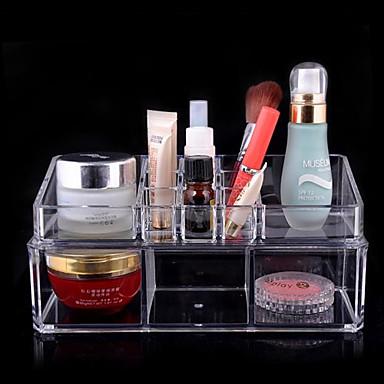 akryl transparent kompleks kombineret dobbelt lag kosmetik opbevaringskasse kosmetiske arrangør