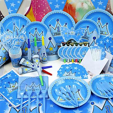 Geburtstag Babyparty Party-Geschirr - Signalhörner Hüte Geschirr-Sets Hochwertiges Papier Märchen