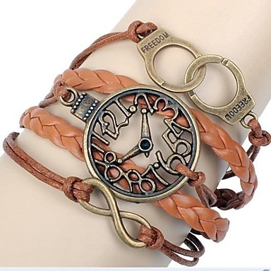 Women's Wrap Bracelet Leather Jewelry Party Daily Casual