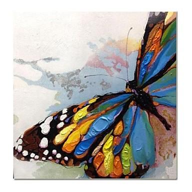 Hang-pictate pictură în ulei Pictat manual - Animale Contemporan pânză / Stretched Canvas
