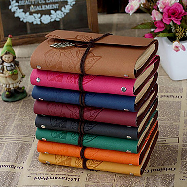 Business Leaf Hard Cover Creative Notebooks(More Colors,1 Book)