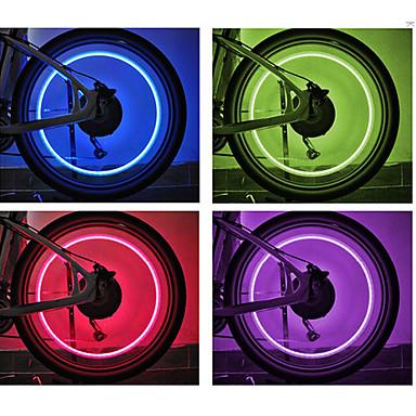 פנסי אופניים אורות גלגל אורות מהבהבים כובע שסתום LED רכיבת אופניים סוללות לטלפונים סלולריים Lumens סוללה רכיבה על אופניים-FJQXZ
