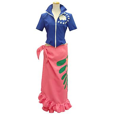 Inspirat de One Piece Nico Robin Anime Costume Cosplay Costume Cosplay Imprimeu Manșon scurt Vârf / Fustă Pentru Pentru femei