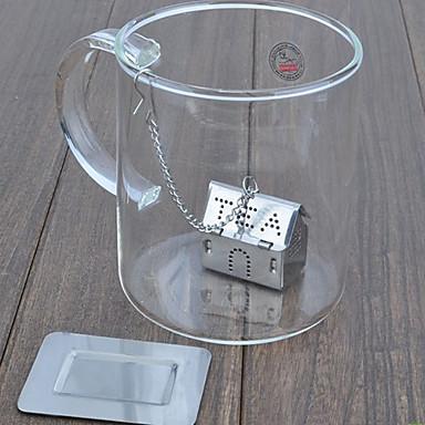 Nerezová ocel dům Tea Infester sítko, W10cm x L12cm x H5cm