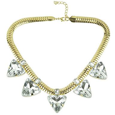 Canlyn Damemode Snake Chain Med Gem Short Necklace