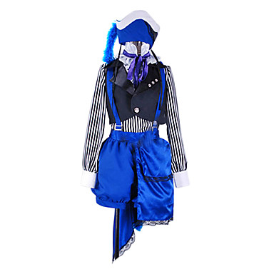 Inspireret af Sort Butler Ciel Phantomhive Anime Cosplay Kostumer Cosplay Kostumer Patchwork 背心 Bluse Bukser Krave Hat Til Mand