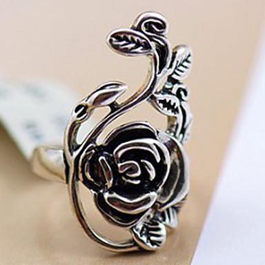 Prsteny s kamenem Slitina Flower Shape Retro Viktoria Tarzı Vyřezávaný Šperky Párty Denní