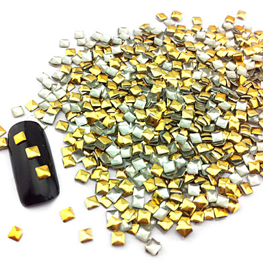 100pcs 2.5mm Punk Golden Rivet Nail Art Decoration