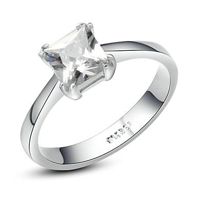 Dame Krystal Krystal / Guldbelagt / Simuleret diamant Statement Ring - Kvadrat / Geometrisk form Ring Til Bryllup / Fest / Afslappet