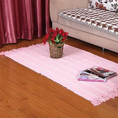 Elaine καθαρό βαμβάκι ροζ βάφλα ελέγχου χαλί 333631
