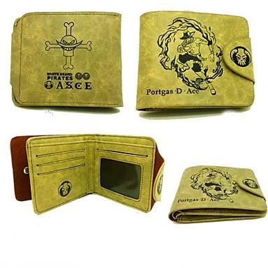 Tasche Geldbörsen Inspiriert von One Piece Portgas D. Ace Anime Cosplay Accessoires Geldbeutel PU-Leder Leder Herrn