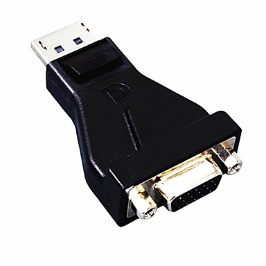 DisplayPort DP na VGA Converter Adapter konektoru pro vstup a výstup New