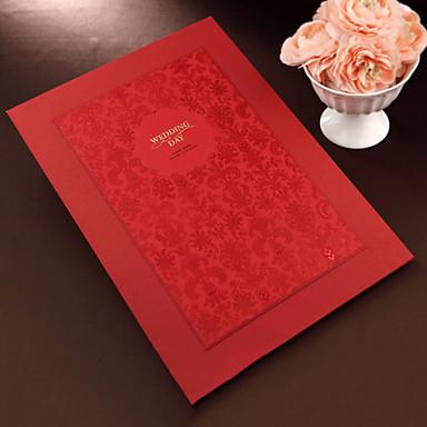 Gästebuch Papier / Sonstiges Asiatisch / Blumen / Klassisch Mit Weiße Schleife / Blume Gästebuch