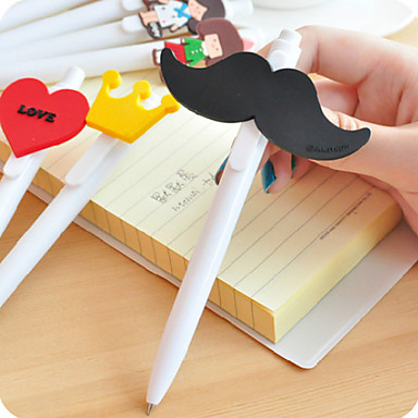 3 x Heart Style Plastic Ball-point Ballpoint Pen