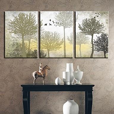 Reprodukce maleb na plátně Sady pláten Botanický motiv Tři panely Horizontální Grafika Wall Decor For Home dekorace