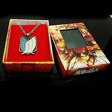Smykker Inspireret af Attack on Titan Eren Jager Anime Cosplay Tilbehør Halskæde Gyldent Legering Mand