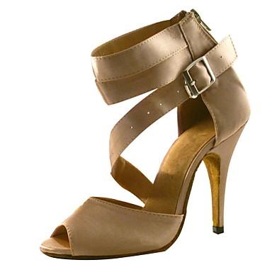 Satin Pantofi de dans femeie personalizate pentru sandale latină / Ballroom