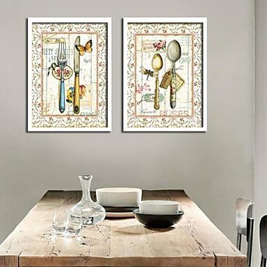 Klidný život Kanvas v rámu / Set v rámu Wall Art,PVC Bílá Bez pasparty s rámem Wall Art